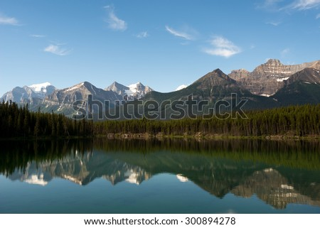 Canadian Rockies in Banff National Park, Alberta, Canada - stock photo