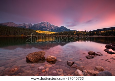 Canadian Rockies in the Fall - stock photo