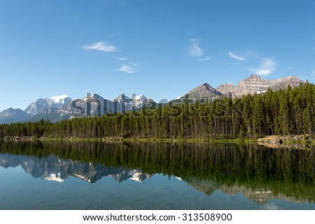Canadian Rockies Scene in Banff National Park, Alberta, Canada - stock photo