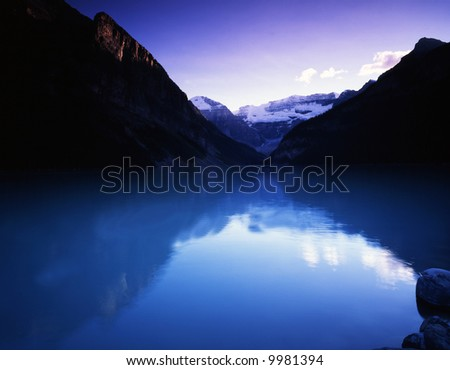 Canadian rocky Beautiful lake-36 - stock photo