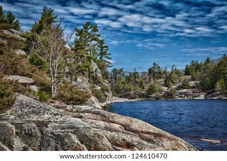 Canadian Shield Canoe Trip - stock photo