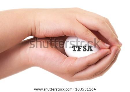 Canadian Tax Free Savings Plan concept  - stock photo
