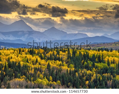 Canadian West - Autumn 2012 - stock photo