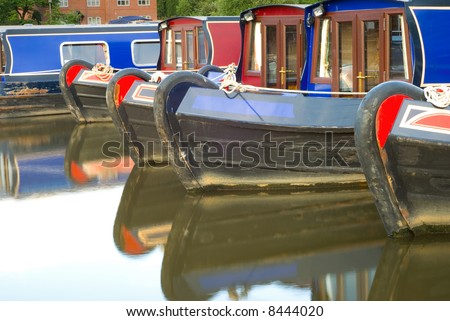 Canal boats at Etruria, Stoke-on-Trent