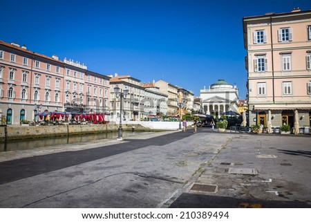 Canal Grande in Trieste, Italy - stock photo