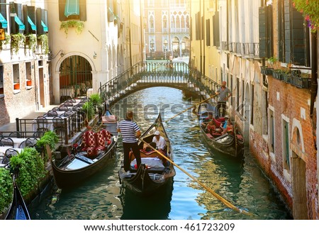 stock photo canal in venice 461723209 - Каталог — Фотообои «Венеция»