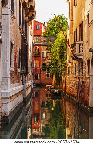 Canal in Venice Italy - stock photo