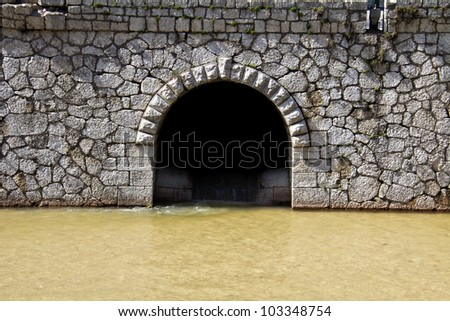 canal intersection - stock photo
