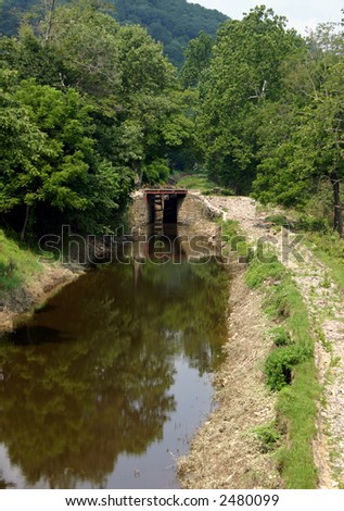 Canal Lock - Bucks County - stock photo