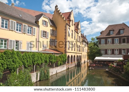 Canal  Petite Venice in Colmar, France - stock photo
