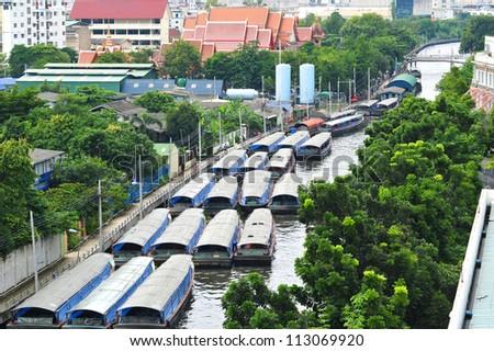 Canals In Bangkok - stock photo