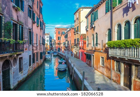 Canals of Venice, Italy - stock photo