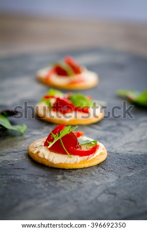Canapé / hors d'oeuvre - stock photo