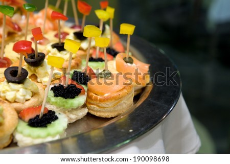 Canap�© or Petit four - stock photo