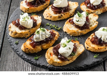 Canape stock images royalty free images vectors for Canape with ingredients