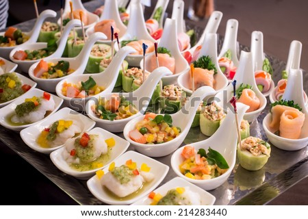 Traditional appetizer stock photos images pictures for Canape spoons australia