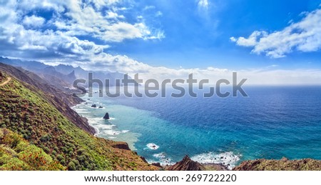 Canarian landscape. Panorama - stock photo