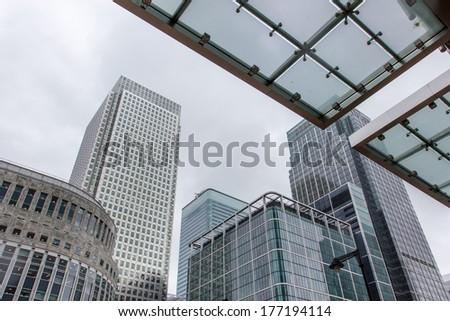 canary wharf london - stock photo