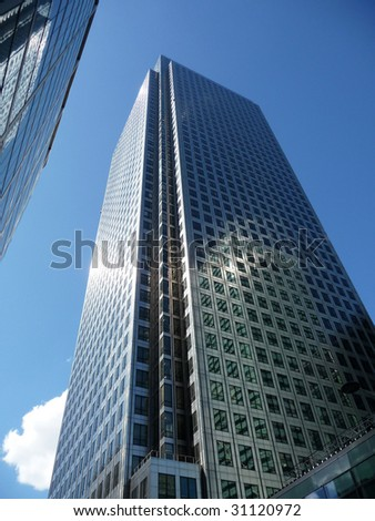 Canary Wharf Office Buildings - stock photo