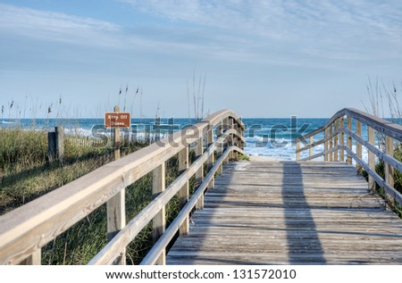 Canaveral National Seashore in the Morning - stock photo