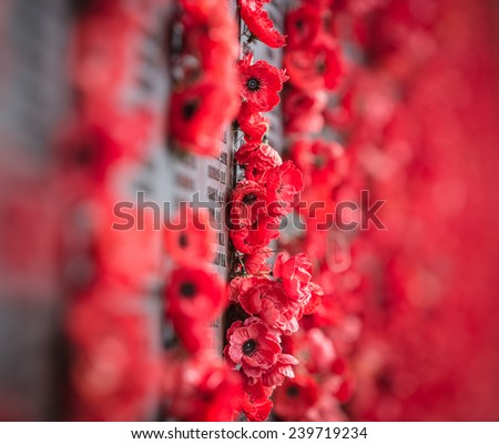 CANBERRA, AUSTRALIA - DECEMBER 12, 2014: The Australian War Memorial in Canberra. It is Australia's national memorial to Australians who have died or participated in the wars. - stock photo