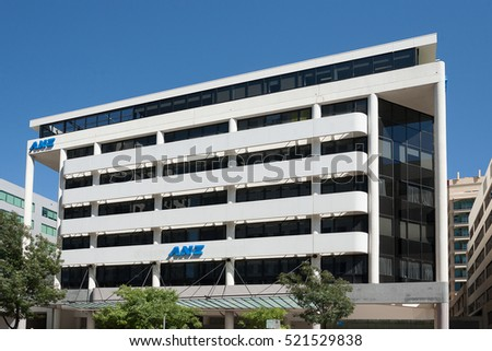 Canberra, Australia-March 18, 2008. Exterior of Australian and New Zealand Bank office building in the Canberra suburb of Acton.