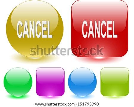 Cancel. Interface element. Raster illustration. - stock photo