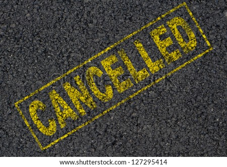 Cancelled sign background