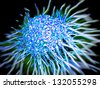 cancer cell with high details - stock vector