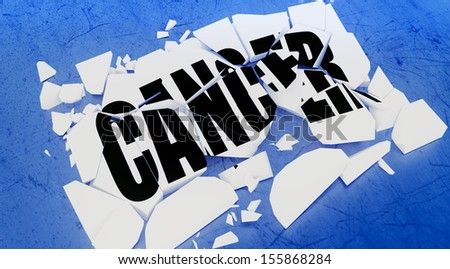 Cancer graphic - stock photo