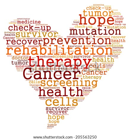 Cancer therapy word cloud - stock photo