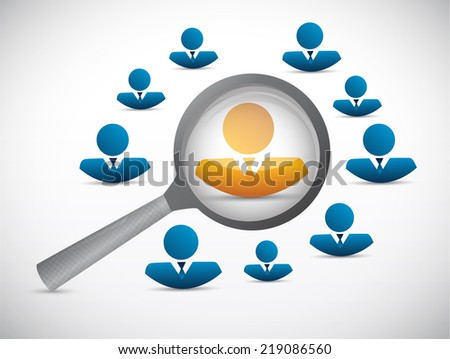 candidate search selection illustration design over a white background - stock photo