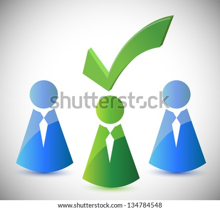 candidate selection illustration design over a white background - stock photo