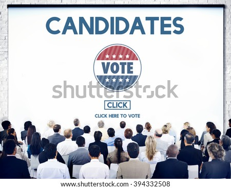 Candidates Nominee Vote Leader Campaign Concept - stock photo
