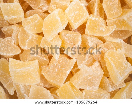 Candied ginger - stock photo