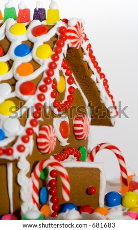 candied gingerbread house
