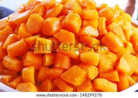 Candied Sweet Potatoes/kind of Thai sweetmeat - stock photo