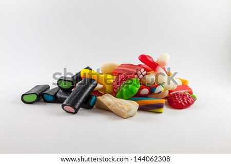Candies and assorted goodies