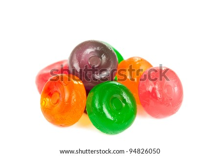 candies isolated on white background - stock photo