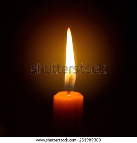 Candle flame close up. - stock photo