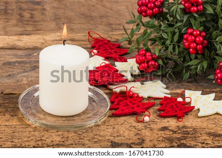 candle for noel - stock photo