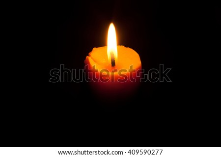candle in black background