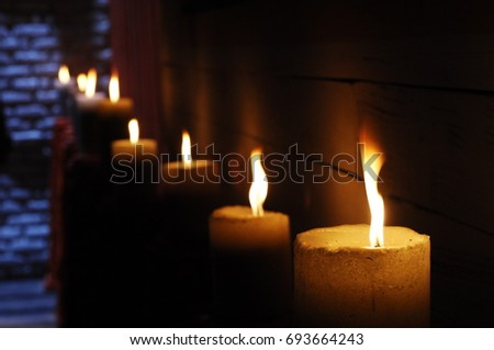 Candle Light at Home