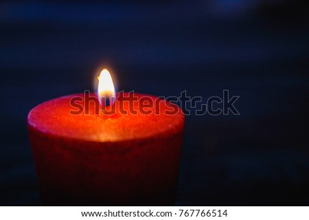 candle light.candle light isolated on black background