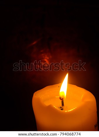 candle light, isolated