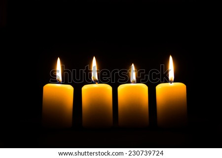 Candle of Hope - stock photo