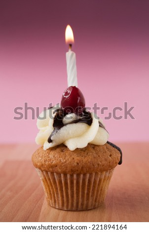 Candle on a cupcake