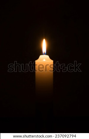 candle on background - stock photo