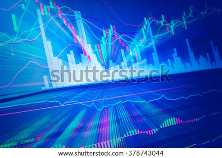 Candle stick graph chart of stock market investment trading - stock photo