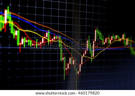 Candle stick graph chart of stock market investment trading business concept